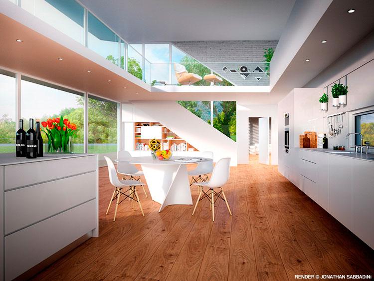 render di interni - arredamento e architettura