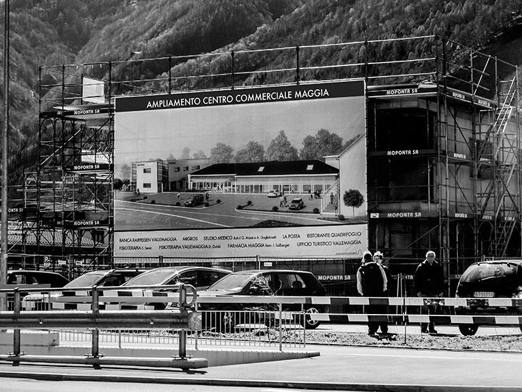Render e grafica cartellone da cantiere grande formato