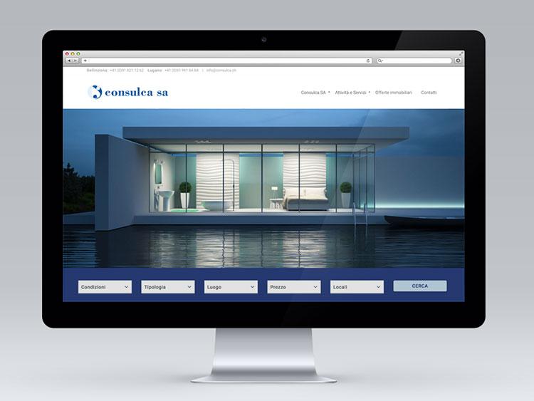 sito di offerte immobiliari e presentazione Consulca Lugano e Bellinzona