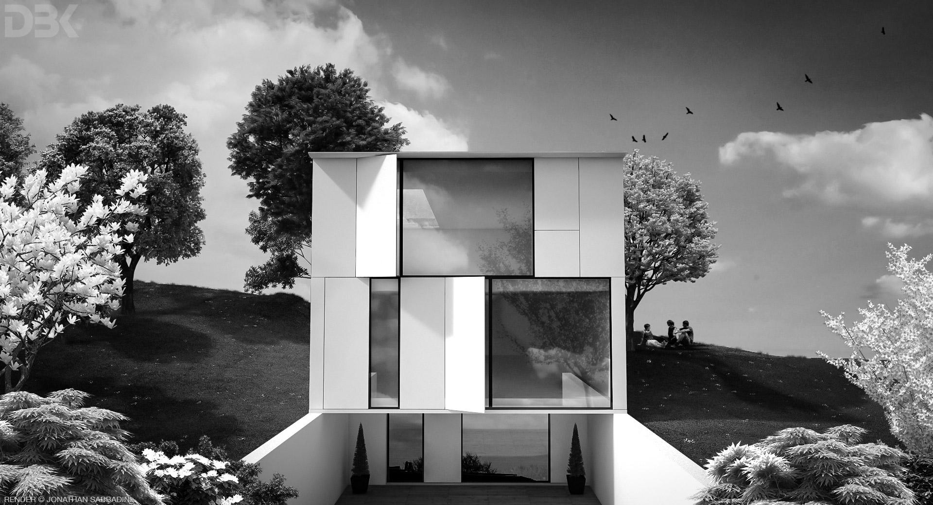 Villa sulla collina, concept render