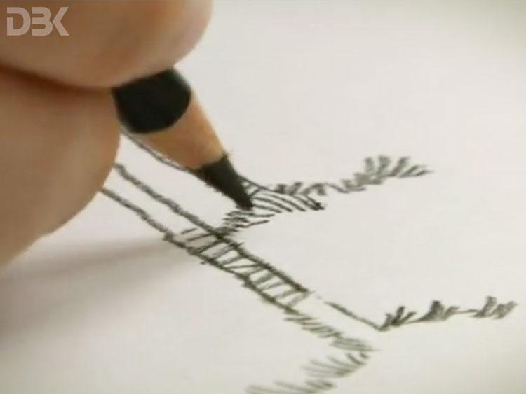 disegno a matita per spot tv