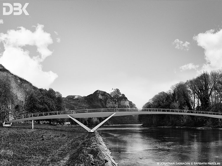 immagini per concorso di ingegneria passerella fiume Linth Masotti Bellinzona - Daburukurikku