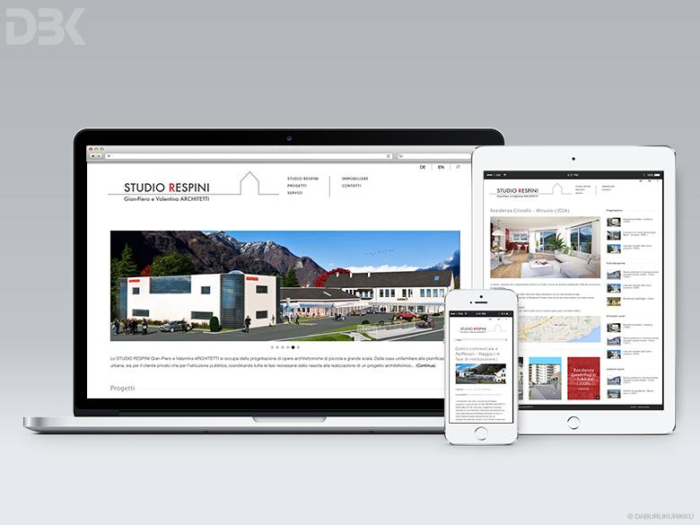 creazione sito web per studio di architettura ed agenzia immobiliare Minusio