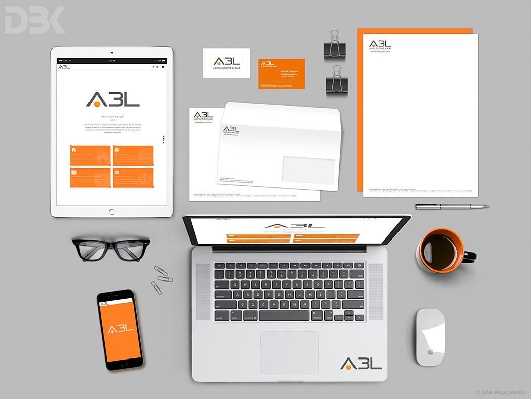 studio grafica marchio logo buste carta da lettere sito web biglietti da visita